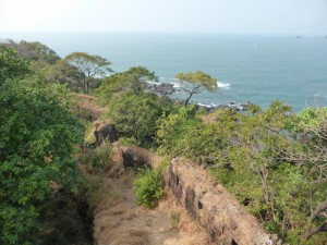 Blick vom Fort aufs Meer