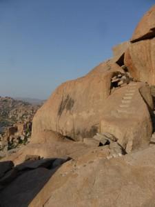 Die Treppen zum Gipfel