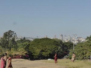Aussicht auf die Skyline von Bangalore