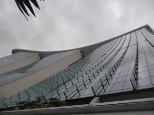 Marina Bay Hotel im Regen