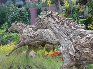 Pferde aus Holz