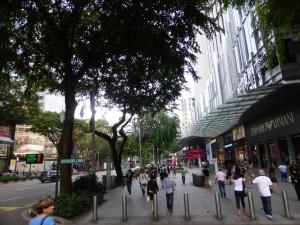 Die Einkaufsstraße Orchard Road