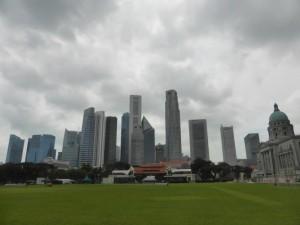 Die Skyline von Singapore