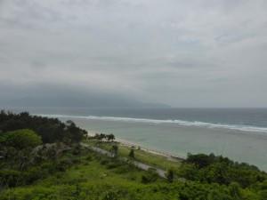 Blick vom höchsten Punkt der Insel