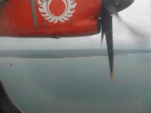 Kurz nach dem Start in Denpasar