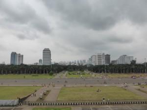 Blick vom Monas auf die Stadt