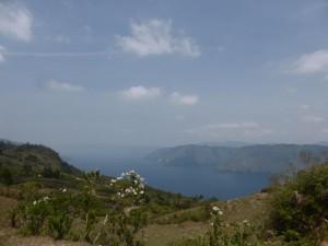 Blick auf den See Toba