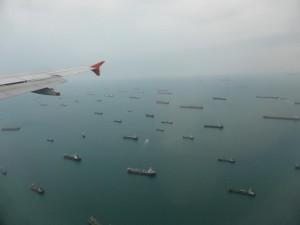 Schiffe vor Singapore