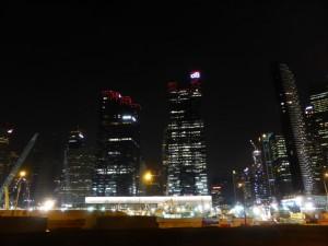 Singapore Skyline von hinten