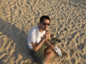 David am Strand in Phuket