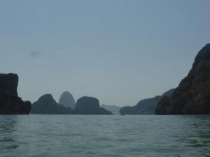 Ausblick während der Bootsfahrt