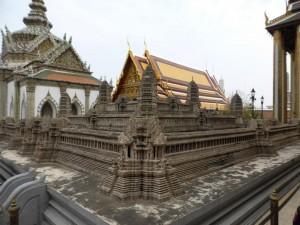 Im Großen Palast - Modell von Angkor Wat