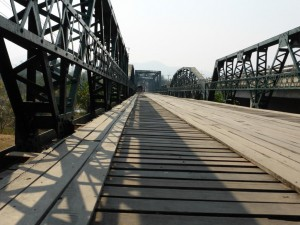 Die japanische Brücke aus dem zweiten Weltkrieg