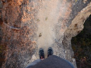 Auf schmalen Pfaden im Canyon