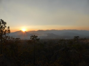 Sonnenuntergang im Canyon