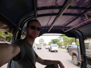 Ich im Tuktuk