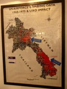 Jeder rote Punkt steht für einen Bombardierungsflug