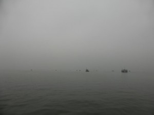 Neblige Halong Bay
