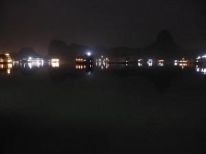 Nächtlicher Ausblick von unserem Boot
