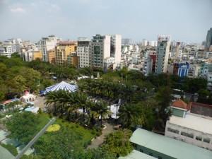 Blick von der Dachterrasse meines Hostels