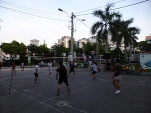Sport findet überall statt wo kein Verkehr hinkommt