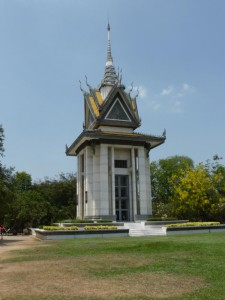 Der Gedenk Stupa in den Killing Fields