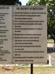 Die ehemaligen Regeln für Gefangene