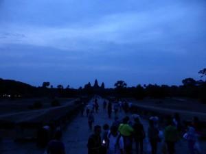 Angkor Wat im Morgengrauen