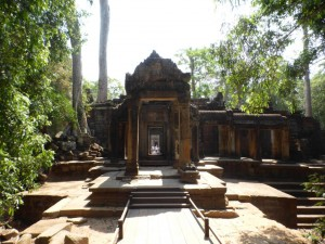 Eingang des Ta Prohm Tempels