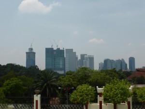 Blick auf die Skyline vom National Monument