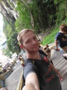 Der Jan kurz vorm Abstieg von den Batu Caves