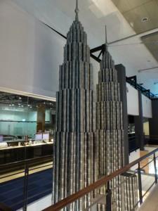 Zinnmodell der Petronas Tower