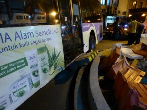 Auf dem Heimweg: Busunfall
