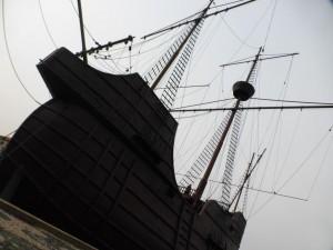 Nachbau eines alten Handelsschiffes