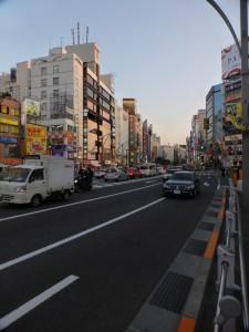Typisches Stadtbild von Tokyo