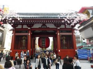 Kaminarimon Gate (thunder gate) des Senso-ji Tempels