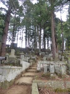 Riesiger Waldfriedhof hinter unserer Herberge