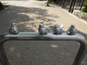 Eine Vogelfamilie - und einer ist auf Reisen :)