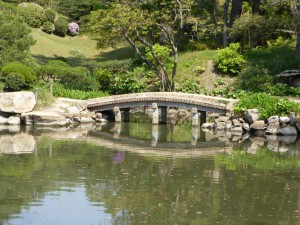 Brücke im Shukkei-En-Park