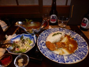 Abendessen - Curry mit frittierten Austern