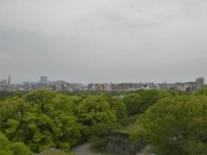 Blick auf Fukuoka von der Bergruine