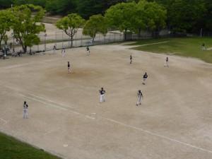 Ein Baseball Spiel