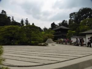 Der Garten im Ginkakujicho Tempel