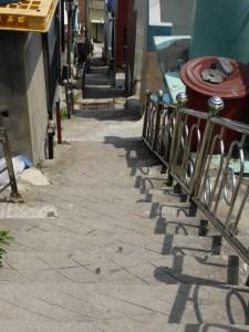 Viele Treppen in Gamcheon