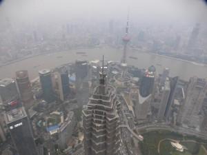 Blick vom Der Shanghai World Financial Tower