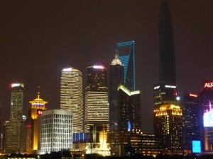 Die Hochhäuser vom Bund betrachtet