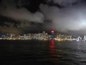 Blick auf Hongkong Island bei Nacht