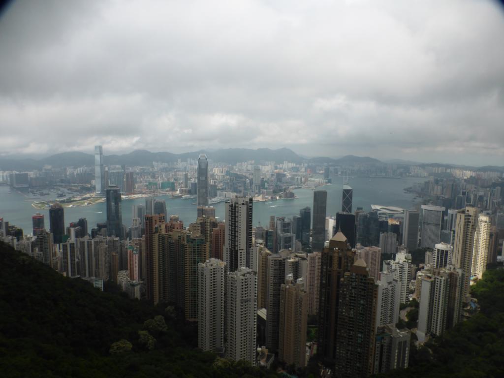 Blick auf Hongkong vom Victoria Peak