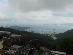 Blick auf die Rückseite von Hongkong Island