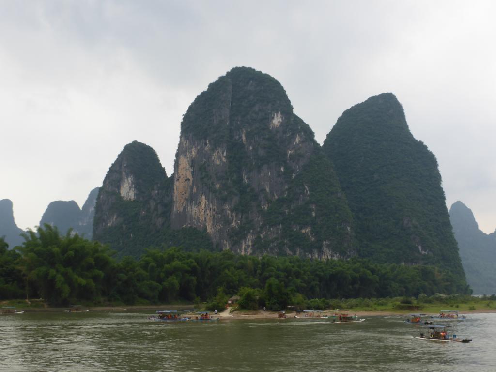Floßfahrt auf dem Li Fluss